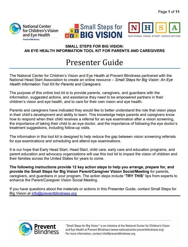 Vision Meeting Presenter Guide